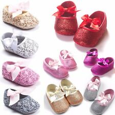 Cute Baby Toddler Shoes Girl Soft Sole Mary Jane Lace Anti-slip Shoes 0-18 M