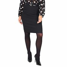 Womens Stretch Fitted Midi Pencil Bodycon Skirt Formal Business Evening Work