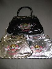 HARRIET TOTE TIGER ED HARDY HANDBAG BAG PURSE DRAWSTRING DIAPER METALLIC LOVE