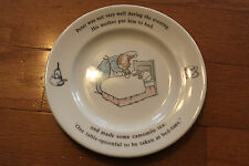 "WEDGWOOD PETER RABBIT Bed Time Camomile Tea 6 3/4"" Plate Beatrix Potter"