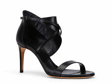 Casadei high stiletto heels ankle strap sandals in black Leather Made in Italy