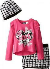 Pogo Club Girls Pink Top 3pc Skirt Set Size 4 5/6 6X $40