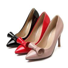 Sexy Women's Pointed Shoes Synthetic Leather Slim High Heels Party Pumps US Size