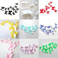 12 pcs 3D Butterfly Sticker Art Wall Stickers Decals Decorations Home Decor HLRG