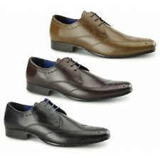 Red Tape GALA Mens Leather Smooth Formal Smart Office Brogue Chisel Toe Shoes