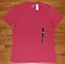 NEW NWT Mens Banana Republic Tee V-Neck T-Shirt Heathered Red Fitted Vee *N7