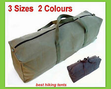 New Heavy Duty Canvas Tool Carry Bag Travel Luggage Duffel Duffle Tote Zip 3Size