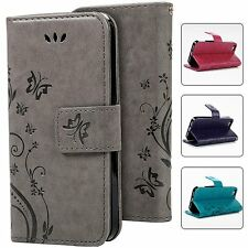 Retro Card Pocket Leather Wallet Stand Pouch Case Cover For Apple iPhone 5s SE