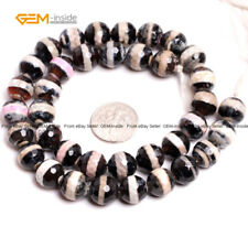 "A Grade Round Soccer Evil Eye Gem Beads Agate Beads 15"" Natural Stone Dyed Color"