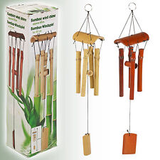 Natural Bamboo Wind Chimes Garden Hanging Windchime Porch Decoration Deco Pipes