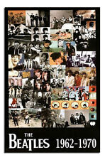The Beatles 62 - 70 Collage Poster New - Laminated Available
