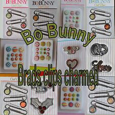 Bo Bunny Scrapbooking Embellishments Cool Clips Bodacious Brads Be Charmed