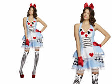 Alice In Wonderland Costume Miss Fairytale Ladies Fancy Dress Outfit