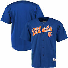New York Mets Stitches Polyester Button-Up Jersey - Royal - MLB