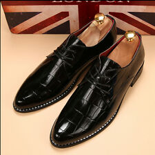 Hot New Men's Patent Leather Lace Up Wig Tip Oxford Formal Shoes Wedding Shoes