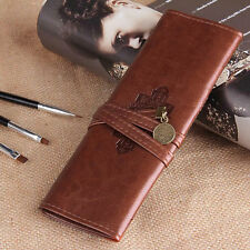 PU Leather Cosmetic Make up Brush Bag Case Pen Pencil Pouch Stationery Box Purse
