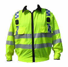 Ex Police Hi Viz Vis 3M Reflective Light Weight Bomber Jacket Recovery Security