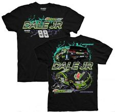2016 DALE EARNHARDT JR #88 MOUNTAIN DEW DEWCISION BLACK NASCAR TEE SHIRT