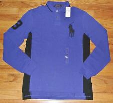 NWT Mens Polo Ralph Lauren Custom Fit Polo Shirt BIG PONY LOGO Long Sleeve *2E