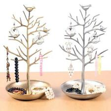 Bird Tree Jewelry Necklace Ring Earring Stand Rack Display Organizer Holder P3O0