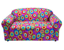 TIE DYE LOVESEAT COVER--ALSO COMES IN SOFA COUCH CHAIR RECLINER FUTON SLIPCOVER