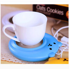 1PC Cute Bear Design USB Powered Cup Mug Warmer Coffee Tea Drink Heater Tray Pad