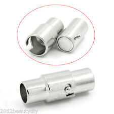 """Wholesale Magnetic Clasps Cylinder Silver Tone 17mmx8.5mm(5/8""""x3/8"""")"""