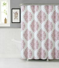 "Tranquility Cotton Fabric 72x72"" Shower Curtain Diamond Shaped Paisley Pattern"