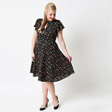 Womens Dress Plus Size Vintage 50s Rockabilly Swing Pinup Evening Party Cocktail