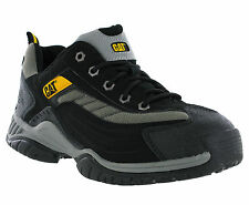 New Mens Caterpillar Moor Black Non Safety Work Walking Shoes Trainers Size 7-12