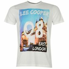 Lee Cooper Mens London Print T Shirt Short Sleeve Crew Neck Summer Casual Tee