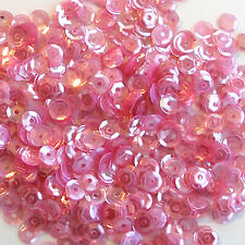 Sequins Pink Lustre 5mm Round Cup ~1,000 or ~12,500 pieces Loose HQ