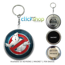 GHOSTBUSTERS Keychain Keyring, Magnet, Pin Badge | Key Ring Chain Bottle Opener