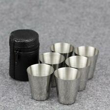 Travel Cups Tots Shots Set of 4 Whisky Wine Spirits Golf Picnic Camping Festival