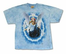 THE MOUNTAIN DOVES FLYING BLUE TIE DYE MENS T-SHIRT NEW OFFICIAL