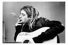 Kurt Cobain poster smoking BRAND NEW licensed  size 61 cm X 91.5 cm NIRVANA