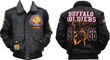 Buffalo Soldiers S4 Mens Leather Jacket