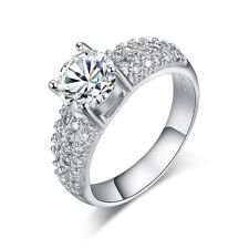 Size 6,7,8,9 Fashion Women White Sapphire 18K Gold Filled Engagement Ring Gift
