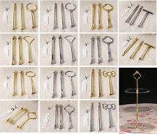 20 Styles 3 Tier Cake Plate Stand Handle Fitting Silver Gold Wedding Supplies #a