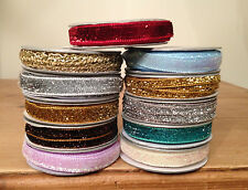 Gisela Graham Christmas Glitter Ribbon Gift Wrapping - 1 or 3 Metres