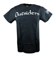 Outsiders nWo New World Order White Logo WCW Black T-shirt
