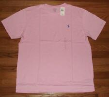 NEW NWT Mens Polo Ralph Lauren Crewneck T-Shirt Pony Logo $29 Carmel Pink