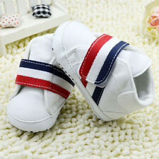 Baby Boy girls First Shoes white Soft soles Crib Shoes Size 0-18 Months