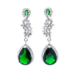 Rhinestone Crystals Earring Zircon Dangle Earrings Women Wedding Jewelry 20528