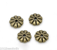 Wholesale Bronze Tone Flower Spacer Beads Findings 7x2mm