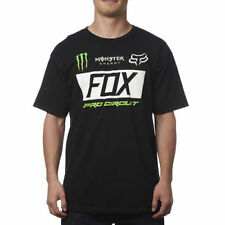 FOX RACING PRO CIRCUIT MONSTER ENERGY PADDOCK TEE BLACK SHORT SLEEVE S/S T SHIRT