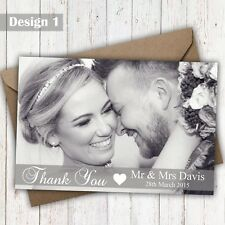 Full Photo Personalised With Your Photo Wedding Thank You Cards & Envelopes