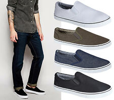 Mens Boys Slip On Casual Skater Espadrilles Plimsolls Trainers Pumps Shoes Size