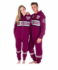 MANLY SEA EAGLES NRL TEAM ADULT ONESIE FOOTBALL FOOTYSUIT UNISEX PYJAMAS