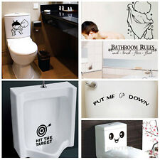 Quality Bathroom Toilet Decoration Seat Art Wall Stickers Decal Home Decor LA